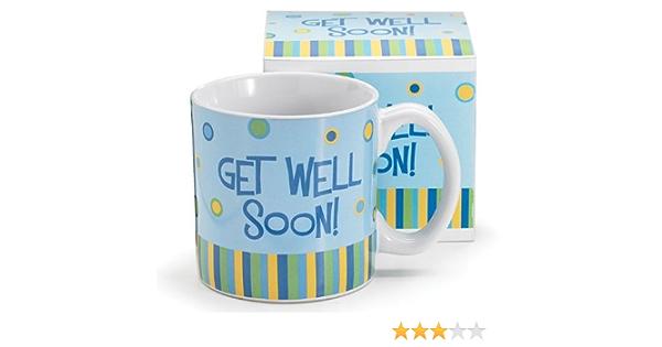 13oz Get Well Soon Mug Blue Coffee Cups Mugs