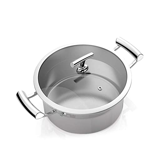 Olla JXLBB Grueso 304 Sopa de Acero Inoxidable Antiadherente Hogar Ramen pequeña Cocina de inducción Gas Aplicación 22 cm: Amazon.es: Deportes y aire libre