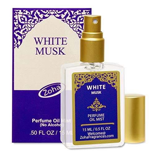 (White Musk Perfume Oil Mist (No Alcohol) White Musk Fragrance Oil - Essential Oils and Perfumes for Women and Men by Zoha Fragrances, 15 ml / 0.50 fl Oz)