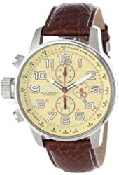"Invicta Men's 2772 ""Force Collection"" Stainless Steel Left-Handed Watch with Leather Band"
