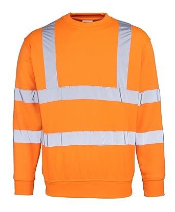 RTY - Sudadera - para Hombre Naranja Naranja Fluorescente Mediano: Amazon.es: Ropa y accesorios