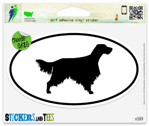- English Setter Dog Breed Shape Oval Car Sticker Indoor Outdoor 5