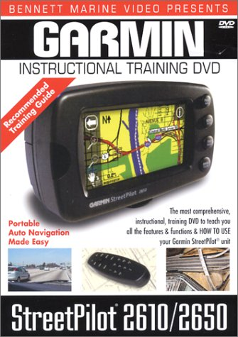 Garmin StreetPilot 2610/2650 GPS Instructional Training DVD
