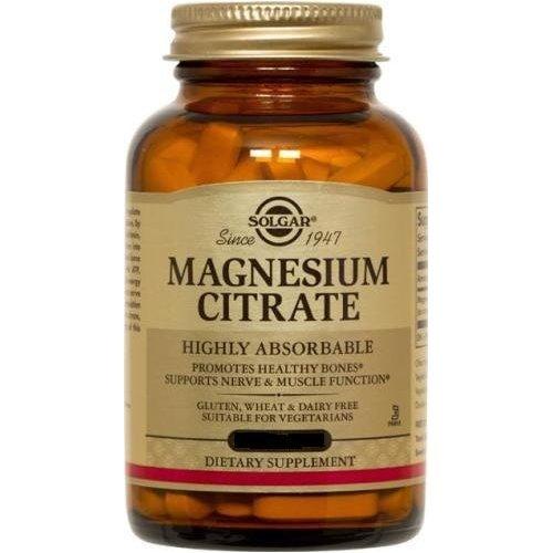 Solgar - citrate de magnésium, 120 comprimés