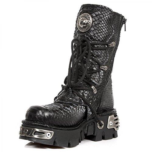 New Rock Boots M.373-s21 Gotico Hardrock Punk Unisex Stiefel Schwarz