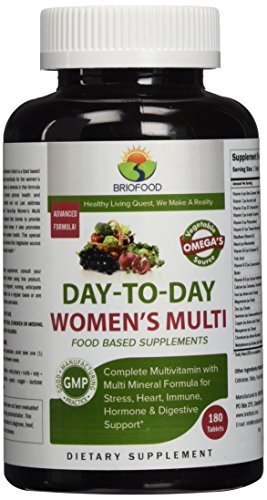 Briofood, DAY-TO-DAY Women's Multi, Food Based Multivitamin with vegetable source omegas, 180 Tablets by ()