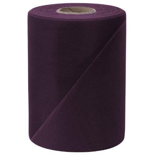 Falk Fabrics Tulle Spool, 6-Inch by 100-Yard, Eggplant