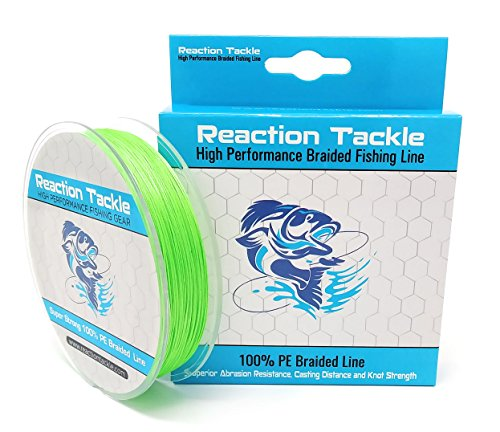 - Reaction Tackle RT 9 Strand - Fluoro Green 65LB 300yds