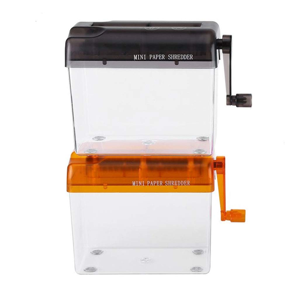Blue Hmxpls Manual Shredder Hand Paper File Shredder Mini Cutting ...