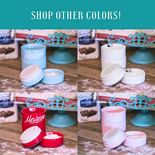 Goodscious Pink Ceramic Mason Jars Measuring Cups - Kitchen Mason Jar Set -  Baking Supplies Dry and Liquid Ingredients - Retro and Farmhouse Decor -