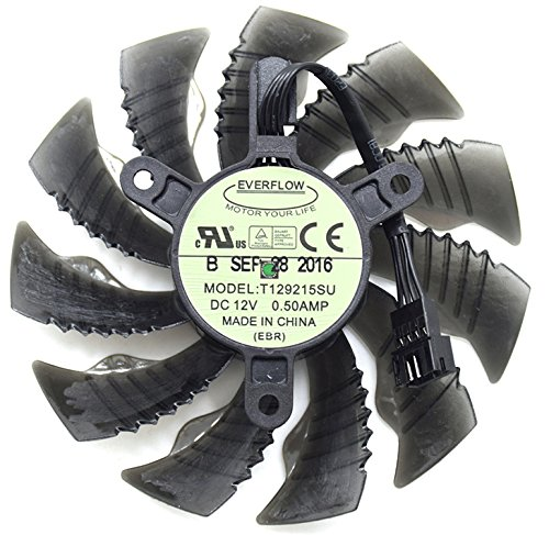 Replacement Graphics Card Cooling Fan For GTX 1060 GTX 1070 T129215SU 12V 0.5A 87mm 4 Pin
