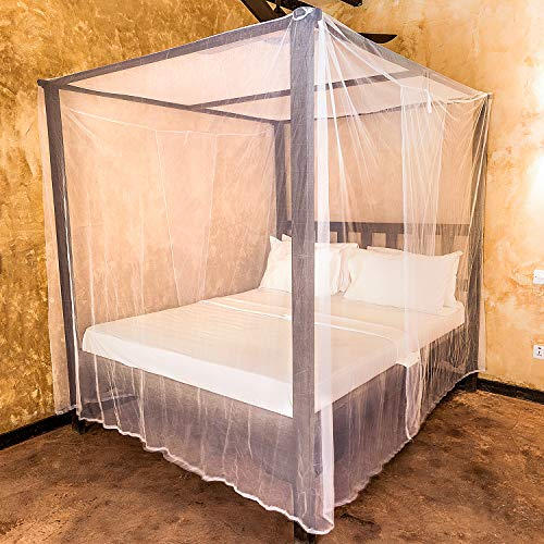 Universal Backpackers Mosquito Net for Double Bed - 6 Hanging Loops & 2 Side Openings - Bed Canopy Hanging Kit & Carrying Bag Included - Decorative Rectangular Shape for Home & Travel by Universal Backpackers (Image #6)