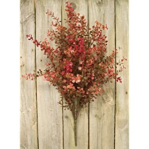 Peppergrass Bush Red Country Primitive Floral Décor 94