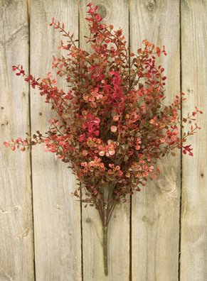 Peppergrass Bush Red Country Primitive Floral Décor