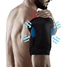 Light Weight Compression Gel Wrap For SHOULDER Pain Relief. Reusable Cyro Cold Therapy Is Colder Than Ice For Long Lasting Pain Relief From Spasms, Swelling And Sore Muscles. Consistent Temperature.