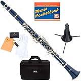 Mendini MCT-BL+SD+PB Blue ABS B Flat Clarinet