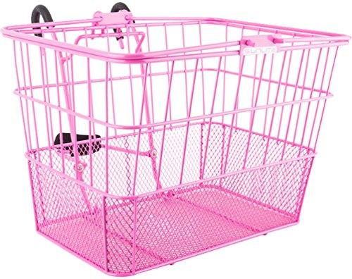 Sunlite Standard Mesh Bottom Lift-Off Basket w/Bracket, Pink (Bicycle Basket Pink)