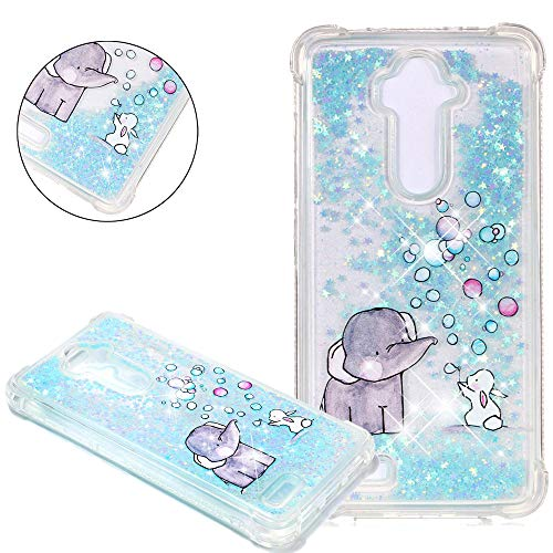 HMTECHUS Grand X Max 2 case Liquid Sparkle Floating Thin Quicksand Shockproof Protective Shell Hybrid TPU Gel Bumper Cover for ZTE Z max Pro Z981 / Imperial Max Bilng Childlike ()