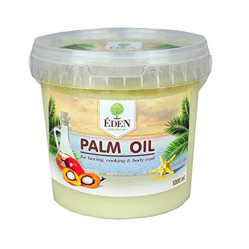 Palm Oil, Palmöl 1000 ml im praktischen Eimer