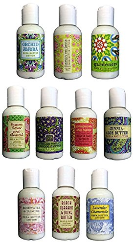 Greenwich Bay Trading Company Boxed Gifting Set Sampler Set of 10 Lotions (Summer Florals Collection)