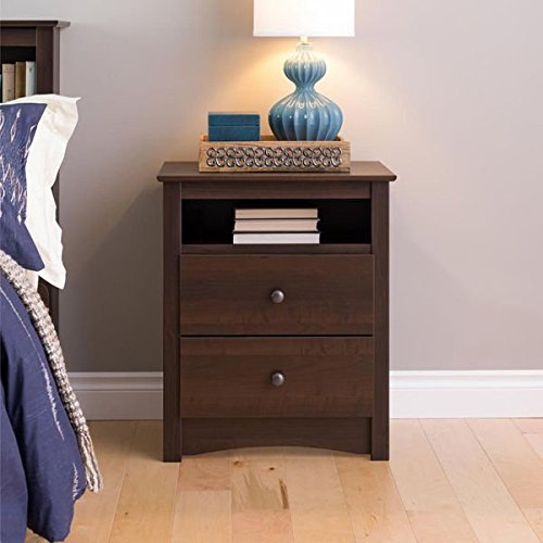 Sonoma Ellsworth Easy-to-Assemble Contemporary Espresso Tall 2-drawer Night Stand by Sonoma