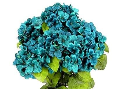 JenlyFavors 22 Inch X-Large Satin Artificial Hydrangea Silk Flower Bush 7 Heads