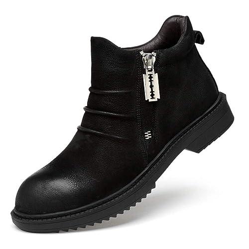 ailishabroy Botines Casuales para Hombres Clásicos Lace Up Oxfords Zapatos Altos Superiores para La Abrasión De Los Caballeros: Amazon.es: Zapatos y ...