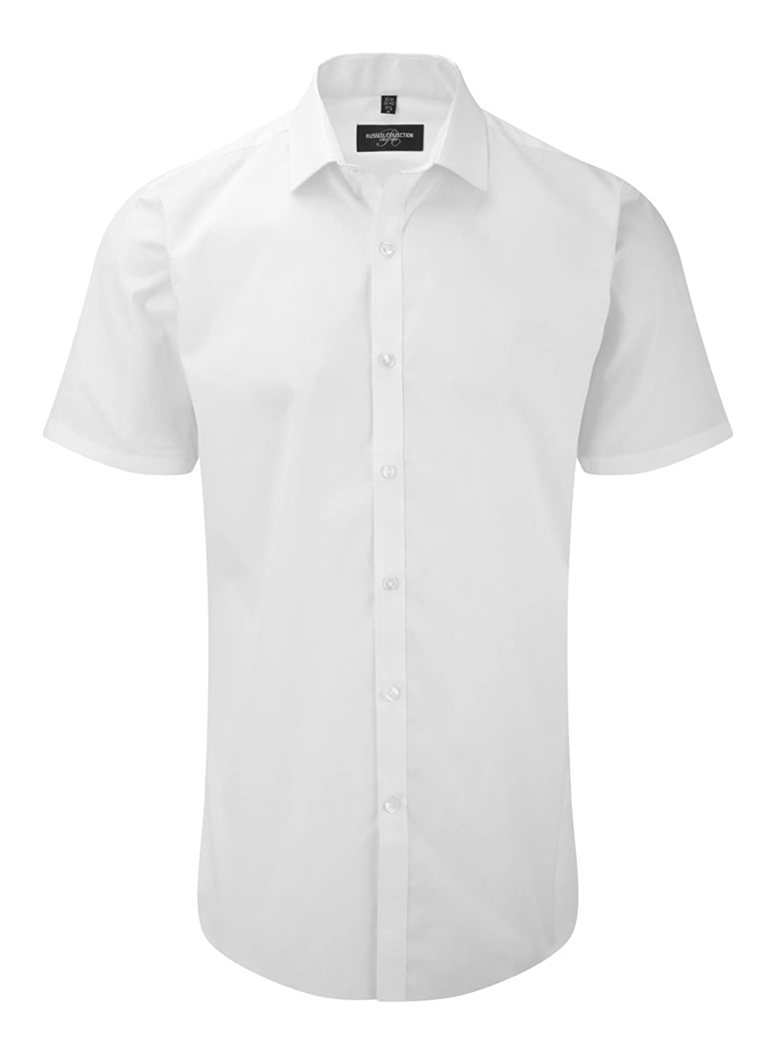 Russell Collection -Short sleeve ultimate stretch shirt (J961M) 2 colors