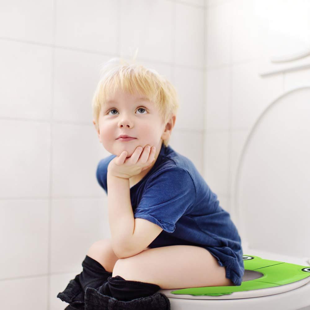 Pink Tragbar Reise WC Sitz Kleinkind T/öpfchen mit Aufbewahrungst/üte und WC Sitzbez/üge Faltbarer Toilettentrainer f/ür Unterwegs isimsus Kinder Toilettensitz