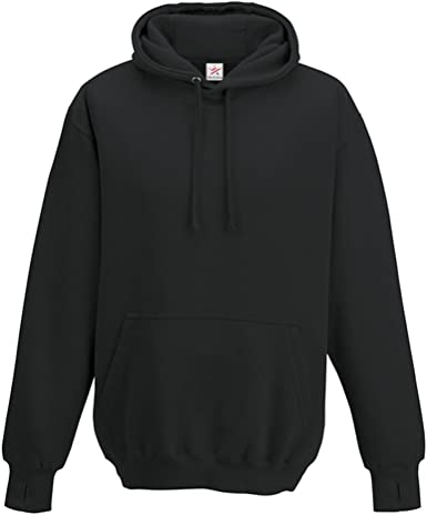 Heavyweight Hoodie With Thumb Holes Hooded Sweatshirt Plain Pullover Hoody S-2XL