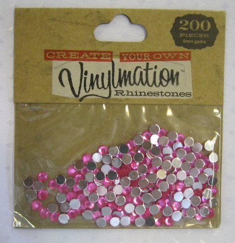 - Disney Vinylmation Crystal Diamond Pink Colored Rhinestones 200 Count 5mm Gems Brand New Sealed!