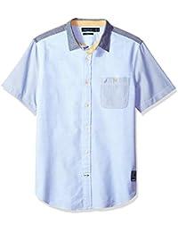 Men's Short Slv Slim Fit Vintage Heritage Look Button...