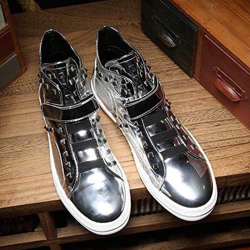 LOVDRAM Stiefel Männer Hohe Spitzenschuhe Männer Persönlichkeit Martin Stiefel Männer Freizeitschuhe Nieten Herrenschuhe Helle Mode Schuhe Stiefeletten