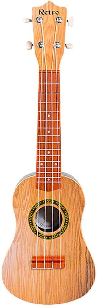 Fan-Ling 1pcs Beginner Guitar Children's Educational Instrument, Children Learn Guitar Ukulele Mini Can Play Musical Instruments Toys,Mini Ukule Toy