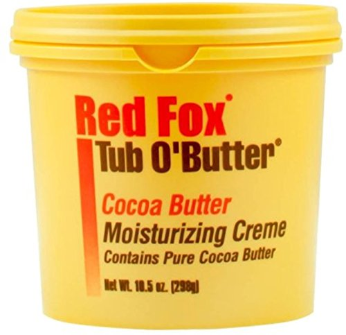 Red Cocoa (Red Fox Tub O' Butter Cocoa, Moisturizing Creme 10.5 oz (Pack of 5))