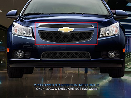 (Fedar Main Upper Dual Weave Mesh Grille for 2011-2014 Chevy Cruze)