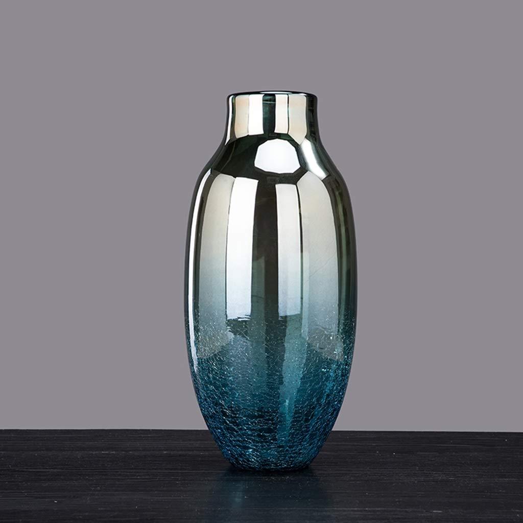 グラデーション花瓶、ガラスドライフラワー偽の花瓶花クリエイティブ多機能装飾デスクトップ花瓶 (サイズ さいず : 9*36CM) B07SDNDG15  9*36CM