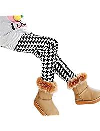 Changeshopping Winter Girls Leggings Thick Warm Elastic Waist Legging Pants