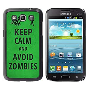 Jordan Colourful Shop - FOR Samsung Galaxy Win I8550 - Keep Calm And avoid zombies - Personalizado negro cubierta de la caja de pl??stico