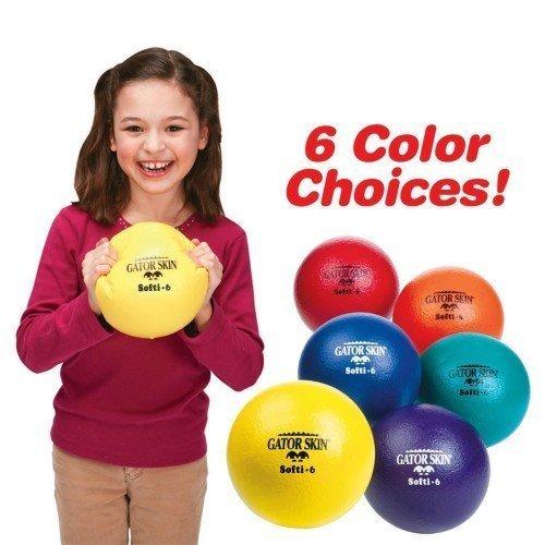 S&S Worldwide 43227-4378 Gator Skin Softi Ball-Red (Collection Sharkskin)