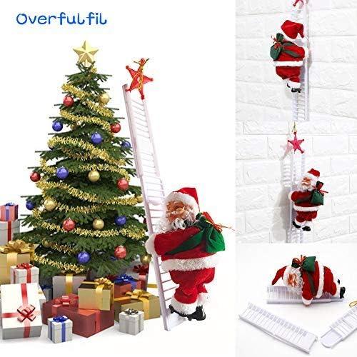 Overfulfil Escalera de Escalada de Papá Noel, Cuerda de Escalada, Escalera de Papá Noel, para Colgar en el Interior o al Aire Libre, Juguete de ...