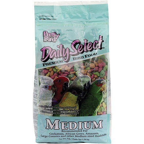Pretty Bird International Bpb79117 20-Pound Daily Select Premium Bird Food, Medium by Pretty Bird