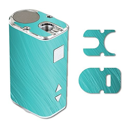 Eleaf iStick 10W Mini Vape E-Cig Mod Box Vinyl DECAL STICKER Skin Wrap / Teal Aqua Wavy Lines Design Background
