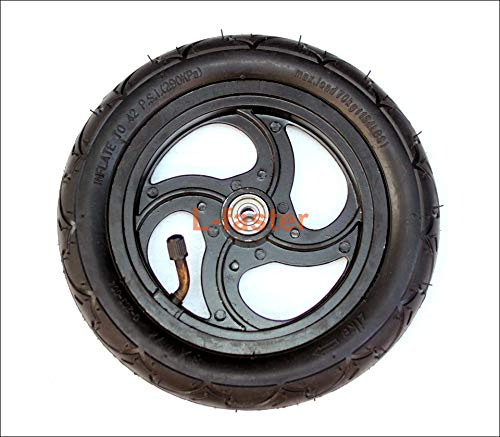 8 Pneumatic Wheel With Inner Tube For Kickscooter Scooter Wheel Size 8x1 1/4 Aluminium Alloy Hub 32mm Width Wheel With Bearings