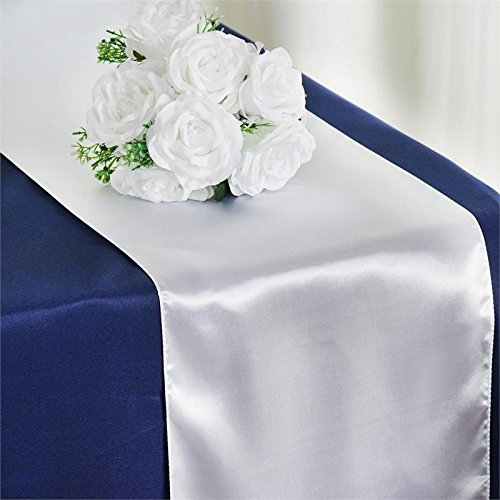 RDS 5 Satin Table Runner 12 X 108 Inch For Wedding & Venue Decoration - -