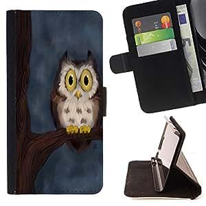 - Owl Owls Cute Chevron Aztec - - Monedero PU titular de la tarjeta de cr?dito de cuero cubierta de la caja de la bolsa FOR Samsung Galaxy S6 Retro Candy