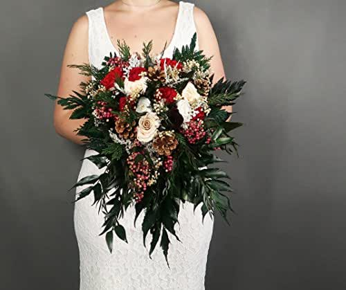 Whole Foods Wedding Bouquet: Amazon.com: Winter Wedding Bridal Bouquet Real Preserved