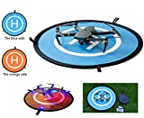 Qubuy Drone Landing Pad with LED Litghts, Drone and Quadcopter 30 inch Portable Fast-Fold Waterproof RC Aircraft Soft Helipad for DJI Phantom 2/3/4/4 Pro, Inspire 1/2, Mavic AIR/Pro,Karma & More