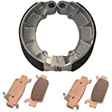 Caltric FRONT & REAR BRAKE PADS SHOES Fits HONDA TRX500 FOURTRAX FOREMAN RUBICON 2005-2013 NEW
