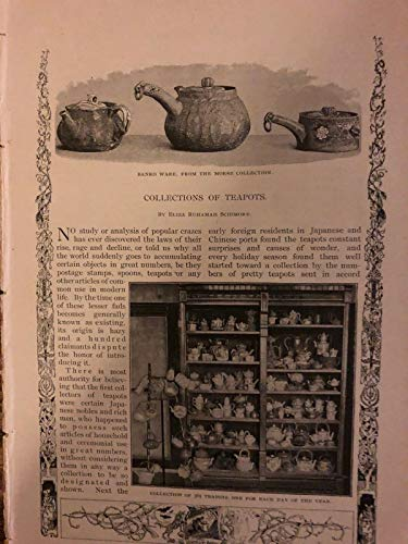 Boston Teapot - 1890 Morse Collection of Teapots Boston Museum of Fine Arts illustrated